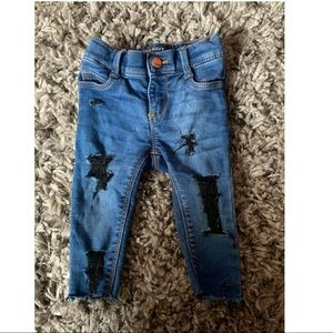 Distressed baby girl jeans